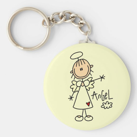 Stick Figure Angel T-shirts and Gifts Keychain