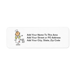 Stick Figure Angel T-shirts and Gifts Label