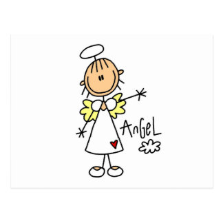 Stick Figure Angel T-shirts and Gifts Postcard