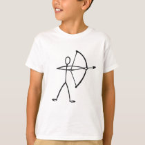 Stick figure archer t-shirts and gifts.