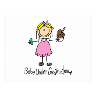 Stick Figure Baby Under Construction Post Cards