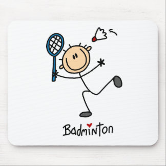 Stick Figure Badminton Mousepad
