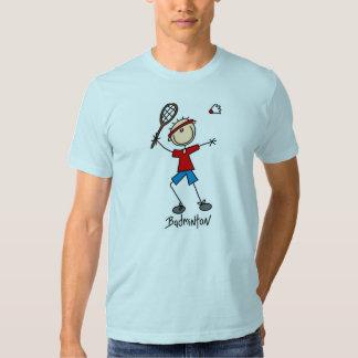 Stick Figure Badminton T-shirts