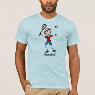 Stick Figure Badminton T-shirts