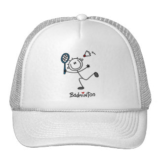 Stick Figure Badminton T-shirts and Gifts Trucker Hat