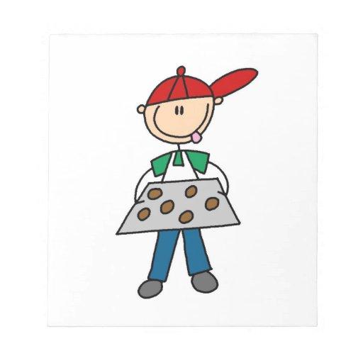 Stick Figure Baking Cookies Scratch Pads
