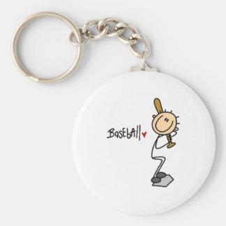 Stick Figure Baseball Keychain