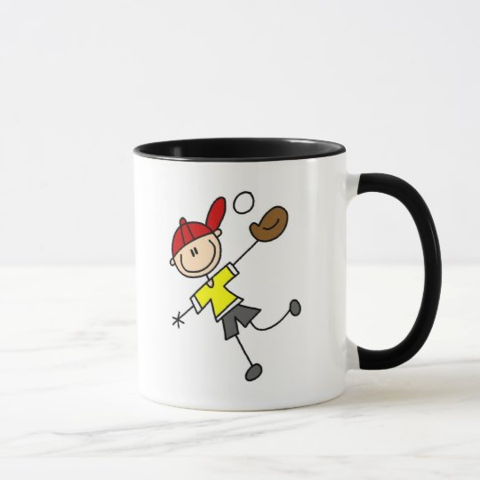 Stick Figure Baseball Mug