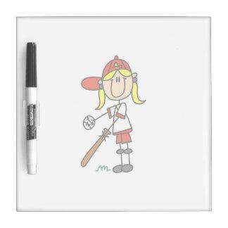 Stick Figure Baseball Up At Bat Dry Erase Board