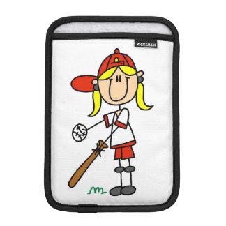 Stick Figure Baseball Up At Bat iPad Mini Sleeve