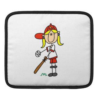 Stick Figure Baseball Up At Bat iPad Sleeve