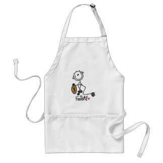 Stick Figure Basic Football T-shirts and Gifts Aprons