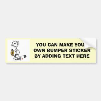 Stick Figure Basic Football T-shirts and Gifts Bumper Sticker