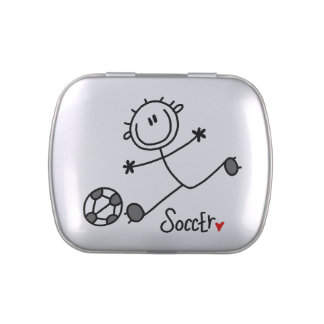 Stick Figure Basic Soccer Candy Tins