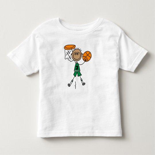 Stick Figure Basketball Player in Green T-shirt