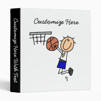 Stick Figure Basketball Sink T-shirs and Gifts Binder
