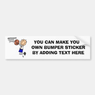 Stick Figure Basketball Sink T-shirs and Gifts Bumper Sticker