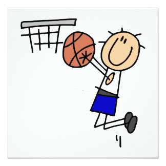 Stick Figure Basketball Sink T-shirs and Gifts Card