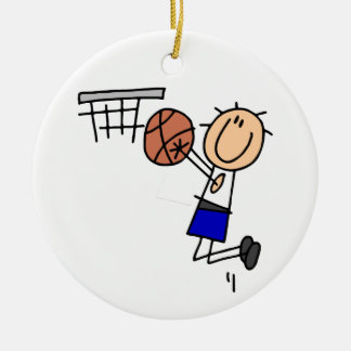 Stick Figure Basketball Sink T-shirs and Gifts Ceramic Ornament