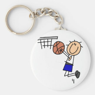 Stick Figure Basketball Sink T-shirs and Gifts Keychain