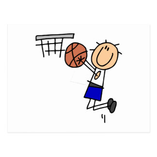 Stick Figure Basketball Sink T-shirs and Gifts Postcard