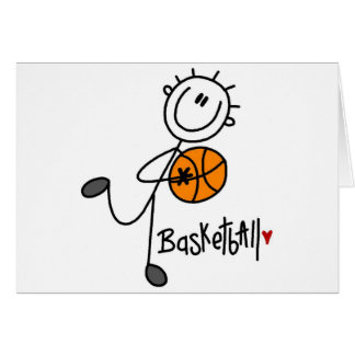 Stick Figure Basketball T-shirts and Gifts Card