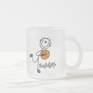 Stick Figure Basketball T-shirts and Gifts Frosted Glass Coffee Mug