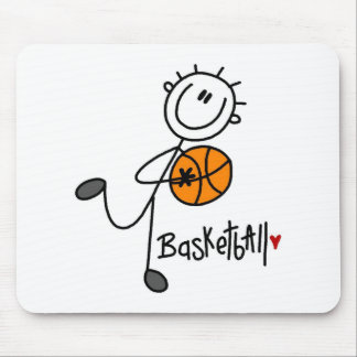 Stick Figure Basketball T-shirts and Gifts Mouse Pad