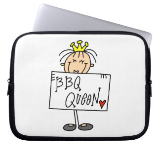 Stick Figure BBQ Queen Computer Sleeves