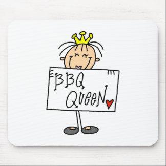 Stick Figure BBQ Queen Mousepads
