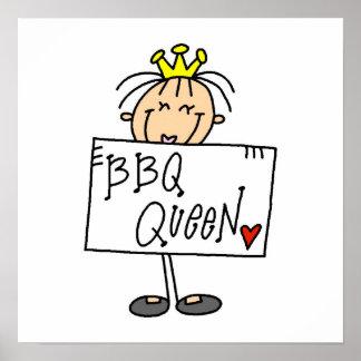 Stick Figure BBQ Queen Posters