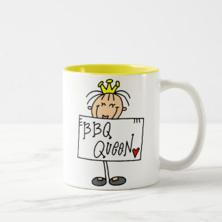 Stick Figure BBQ Queen Two-Tone Coffee Mug