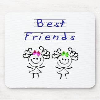 Stick figure best friends mouse mats