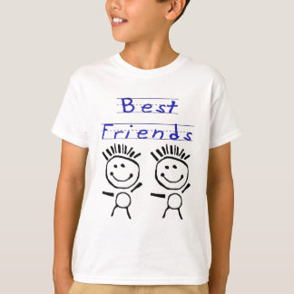 Stick Figure Best Friends T-Shirt