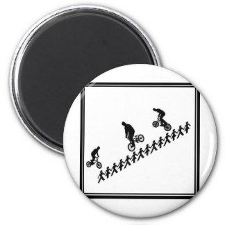 Stick FIGURE BMX Fridge Magnet
