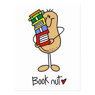 Stick Figure Book Nut Postcards