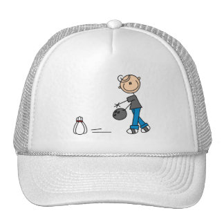 Stick Figure Bowling T-shirts and Gifts Trucker Hat
