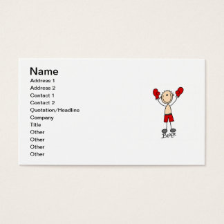 Stick Figure Boxer T-shirts and Gifts Business Card