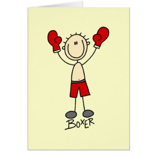 Stick Figure Boxer T-shirts and Gifts Card