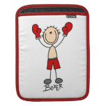 Stick Figure Boxer T-shirts and Gifts iPad Sleeves