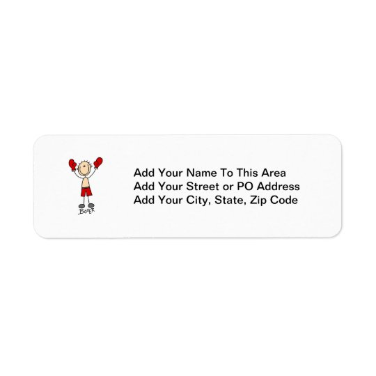 Stick Figure Boxer T-shirts and Gifts Label