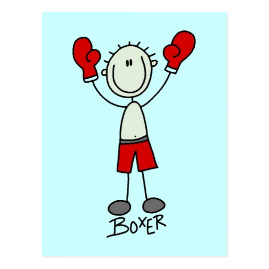 Stick Figure Boxing T-shirts and Gifts Postcard
