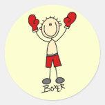 Stick Figure Boxing T-shirts and Gifts Sticker