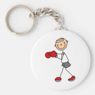 Stick Figure Boxing Tshirts and Gifts Key Chain