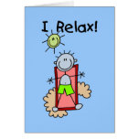 Stick Figure Boy I Relax Greeting Card
