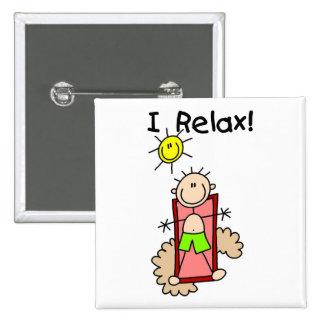 Stick Figure Boy I Relax Pinback Button