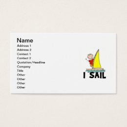 Stick Figure Boy I Sail Business Card