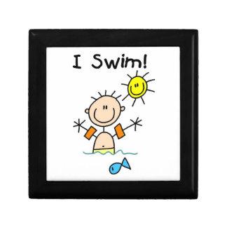 Stick Figure Boy I Swim Gift Boxes