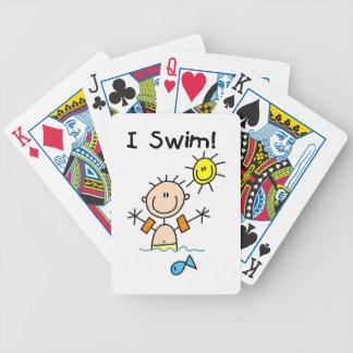 Stick Figure Boy I Swim Bicycle Card Decks
