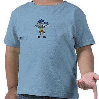 Stick Figure Boy In Cap Shirt